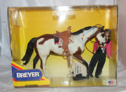 Breyer Vtg Naytukskie Kukatos Cree Paint Horse Girl Western Rider Saddle Tack