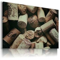 Wine Corks Drink Alcohol Canvas Wall Art Picture Large Sizes Dr100 X Mataga .