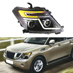 Fit For Nissan Patrol Y62 10-16 Headlight Assembly Refit LED Guide Light Stripes