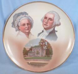 George And Martha Washington Cabinet Plate Valley Forge Germany Bosselman And Co