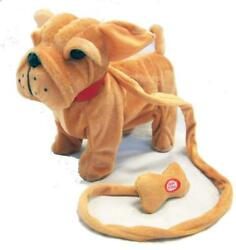 LARGE BROWN BULLDOG REMOTE CONTROL WALKING DOG WITH SOUND battery operated toy