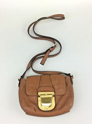 Michael Kors Crossbody Purse Brown Leather Designer Bag Shoulderbag AP-1104