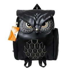 Women Girls Pu Leather Backpack Casual Satchel Purse for ChildrenStudents Black