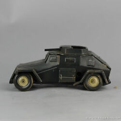 Antique Tin Toy 1938/1942 Tippco Armoured Car Wh194 Wehrmacht Nazi Car Germany