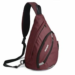 Ancheer Versatile Canvas Sling Bag Small Crossbody Travel Backpack Casual Chest