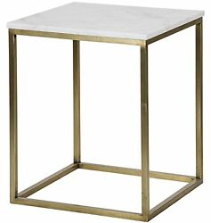 24 Set Of Two Side Table Night Stand Metal Quartz Stone Rustic Modern Antique 6
