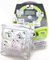 New Zoll Aed Plus Automated External Defib. W/pads, Batteries, Carry Case