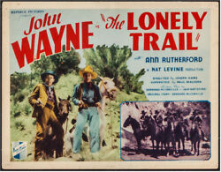 Lonely Trail Vintage Title Lobby Card Movie Poster John Wayne