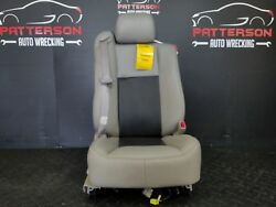 2004 CADILLAC CTS Passenger Right Front Power Leather Bucket Seat-Dk PewterGray