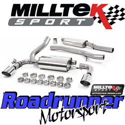 Milltek Focus Rs Mk3 Exhaust System 3 Cat Back Resonated Polish And Ec Approved