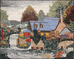 Lakeside Village Mural Wall Decor 63