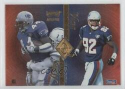 1995 Playoff Absolute Quad Series Marion Butts Willie Mcginest Dave Meggett Q30
