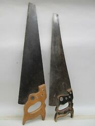 Pair Of Vintage Hand Saws - H. Disston And Sons - Warranted Superior