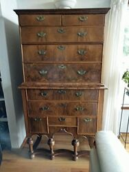 18th Century English Chest On Chest Queen Anne Style Legs - Amazing