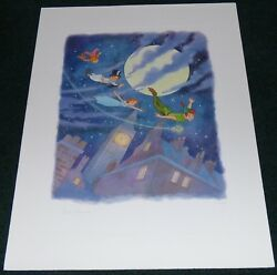 WALT DISNEY PETER PAN WE CAN FLY 2000 LE GICLEE PRINT TINKER BELL WENDY