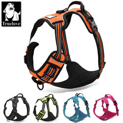 Truelove® Comfy Padded Dog Harness Safe Reflective All Weather Adjustable Mesh