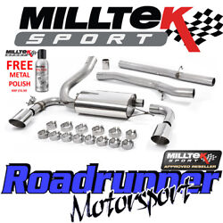 Milltek Performance Exhaust System Focus Rs Mk3 Stainless Cat Back 3 Non Res
