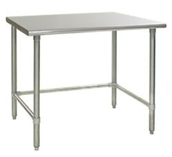 120 X 36 Stainless Steel Open Base Wide Work Table With Removable Galvanized C