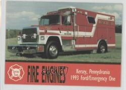 1993 Bon Air Fire Engines Series 2 Kersey Pa Ford/emergency One 159 0b6