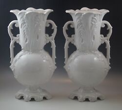Antique Zaccagnini Italy Blanc De Chine Lot Of 2 Lamps Lamp Bases Marked