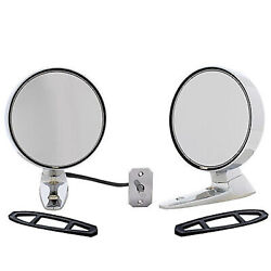 64 65 66 Ford Mustang Outside Left And Right Chrome Rear View Mirrors W/ Remote Pr