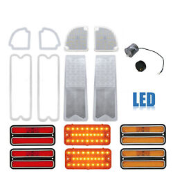 67-68 Chevy And Gmc Truck Led Clear Tail Back Up Marker Park Light Lenses Set Nh