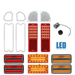 69-70 Chevy Gmc Truck Led Sequential Red Tail Marker Park Light Lenses Set Nh