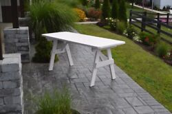 Aandl Furniture Co. Amish-made Pine Traditional Picnic Tables - 4 Sizes 18 Colors