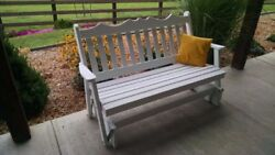 Aandl Furniture Co. Amish-made Pine Royal English Glider Benches - 3 Size Options