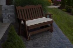 Aandl Furniture Amish-made Poly Royal English Glider Benches - 2 Sizes And 13 Colors