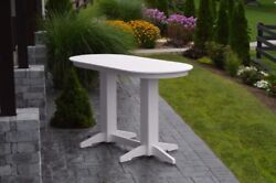 Aandl Furniture Co. Oval Amish-made Poly Bar Tables - In 3 Sizes And 13 Colors