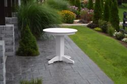 Aandl Furniture Co. Round Amish-made Poly Dining Tables - In 2 Sizes And 13 Colors