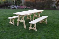 Aandl Furniture Amish-made Pressure-treated Pine A-frame Picnic Tables And Benches