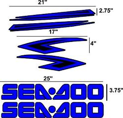 Sea Doo Decal Kit 2005 31 Colors To Choose From 2005 Seadoo