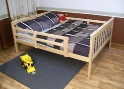 Versaloft Yellow Pine Full Mission Bed With Safety Rails By Aandl Furniture Co.
