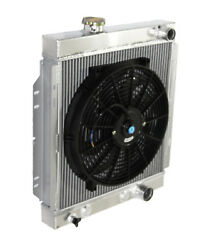 3 Core Performance Racing Radiator+14 Fan For 64-66 Ford Mustang Base V8 I6 Mt