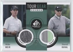 2014 Sp Game Used Edition Tour Gear Combos Shirt Mike Weir David Duval Tg2wd