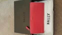 Authentic WOMENS BALLY RED LEATHER WALLET