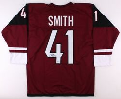Mike Smith Signed Coyotes Jersey Beckett Playing Career 2002andndashpresent Goalie