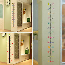 Removable Kids Baby Height Chart Measure Wall Sticker Room Home Nursery Decor