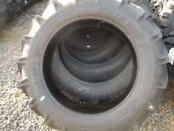 Two 11.2x28 11.2-28 8 Ply R 1 Bar Lug Ford John Deere Tractor Tires With Tubes