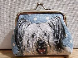 Skye Terrier original art real brush painting change purse size  3