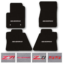 4pc Carpet Floor Mat Set For 2014-2019 Chevy Silverado/z71 - Choose Logo And Color