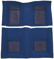New Molded Carpet Mach I With 4 Medium Blue Inserts Complete Ford Mustang 1969