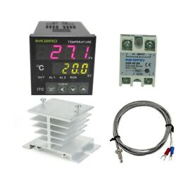 AC 100-220V ITC-100VH Outlet Digital PID Thermostat Temperature Controller USA