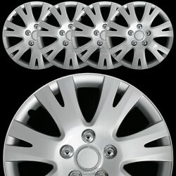 16 Set Of 4 Wheel Covers Full Rim Snap On Hub Caps Fits R16 Tire And Steel Wheels