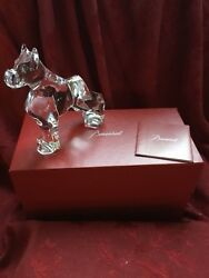 MIB FLAWLESS Exquisite BACCARAT Crystal BOXER GREAT DANE DOG PUPPY Figurine