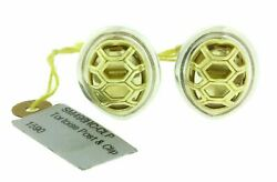 Slane And Slane Tortoise Post And Clip Earrings With Citrine In 18k And Sterling Sil