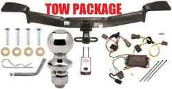 Complete Trailer Hitch Tow Package 1 1/4 Inch Receiver No Drill Fast Shipp