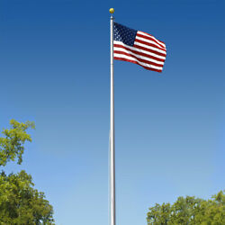 Super Tough Commercial Grade Sectional 20ft. Flagpole - Satin Finish